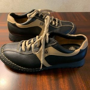Born Leather Black/Tan Oxford Lace Up Sneakers